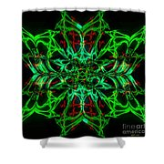 Charlotte's New Freakin' Awesome Neon Web Shower Curtain by Elizabeth McTaggart