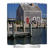 Charming Edgartown Harbor  Shower Curtain by Juergen Roth