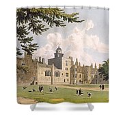 Charter House From The Play Ground Shower Curtain by William Westall