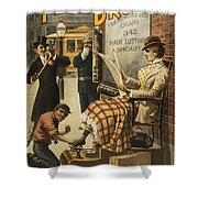 Chase That Away Boy Shower Curtain by Aged Pixel