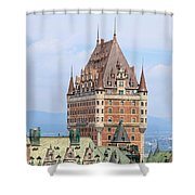 Chateau Frontenac Quebec City Canada Shower Curtain by Edward Fielding