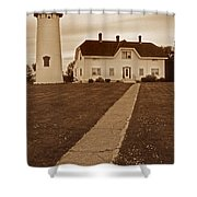 Chatham Lighthouse Shower Curtain by Skip Willits