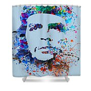 Che Guevara Watercolor Shower Curtain by Naxart Studio