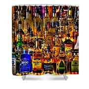Cheers - Alcohol Galore Shower Curtain by David Patterson