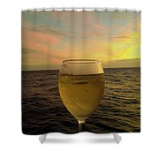 Cheers Shower Curtain by Cheryl Young