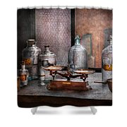 Chemist - The art of measurement Shower Curtain by Mike Savad