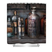 Chemist - Things That Burn Shower Curtain by Mike Savad