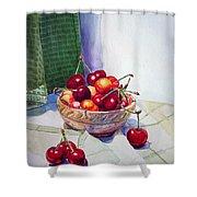 Cherries Shower Curtain by Irina Sztukowski