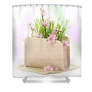 Cherry Blossom Shower Curtain by Amanda Elwell
