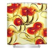 Cherry Jelly Shower Curtain by Anastasiya Malakhova
