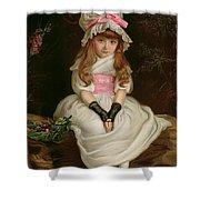 Cherry Ripe Shower Curtain by Sir John Everett Millais