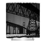 Chesapeake Bay Bridge At Annapolis Shower Curtain by Skip Willits