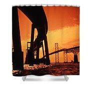 CHESAPEAKE BAY BRIDGE Shower Curtain by Skip Willits