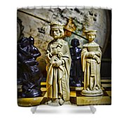 Chess - The Sacrifice Shower Curtain by Paul Ward