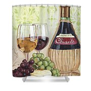 Chianti And Friends Shower Curtain by Debbie DeWitt