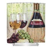 Chianti And Friends Shower Curtain by Debbie DeWitt