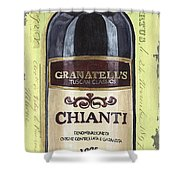 Chianti And Friends Panel 1 Shower Curtain by Debbie DeWitt