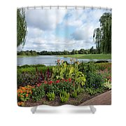 Chicago Botanical Gardens - 95 Shower Curtain by Ely Arsha