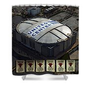 Chicago Bulls Banners Shower Curtain by Thomas Woolworth