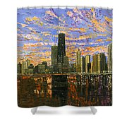 Chicago Shower Curtain by Mike Rabe