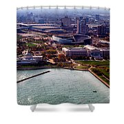 Chicago Museum Park Shower Curtain by Thomas Woolworth