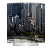 Chicago The Drake Shower Curtain by Thomas Woolworth