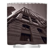 Chicago Towers Bw Shower Curtain by Steve Gadomski