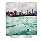 Chicago Winter Skyline Shower Curtain by Paul Velgos