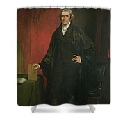 Chief Justice Marshall Shower Curtain by Chester Harding