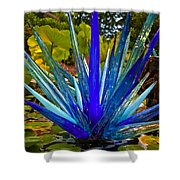 Chihuly Lily Pond Shower Curtain by Diana Powell