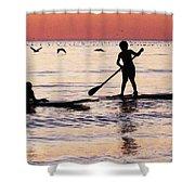 Child Art - Magical Sunset Shower Curtain by Sharon Cummings