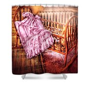 Children - It's A Girl Shower Curtain by Mike Savad