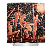 Children Of The Light Shower Curtain by Anthony Falbo