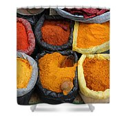 Chilli Powders 3 Shower Curtain by James Brunker