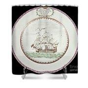 China - Dutch Ship 1756 Shower Curtain by Granger