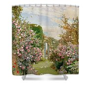 China Roses Shower Curtain by Alfred Parsons