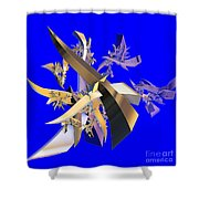 Chinese Puzzle Shower Curtain by Brian Raggatt