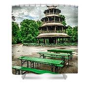 Chinesischer Turm I Shower Curtain by Hannes Cmarits