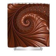 Chocolate  Shower Curtain by Heidi Smith