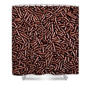 Chocolate Vermicelli Background Shower Curtain by Johan Swanepoel
