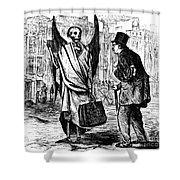 Cholera In Slums, 1866 Shower Curtain by Granger
