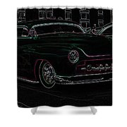 Chopped Merc Glow Shower Curtain by Steve McKinzie