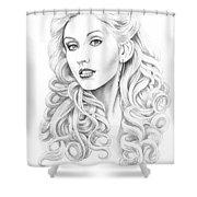 Christina Aguilera Shower Curtain by Murphy Elliott