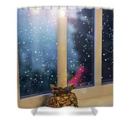 Christmas Candle Shower Curtain by Brian Wallace