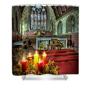 Christmas Candles Shower Curtain by Adrian Evans
