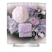 Christmas Decoration Shower Curtain by Kathleen Struckle