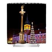 Christmas in Warsaw Shower Curtain by Artur Bogacki