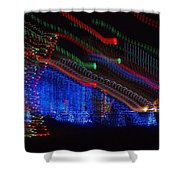 Christmas Lights Shower Curtain by Dan Sproul