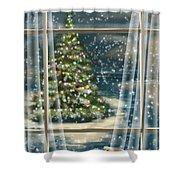 Christmas Night Shower Curtain by Veronica Minozzi