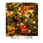 Christmas Tree Background Shower Curtain by Elena Elisseeva
